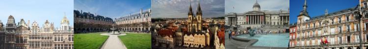 Visita le piazze in tutt'Europa