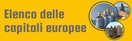 Elenco città da visitare: Le capitali europee nella classifica